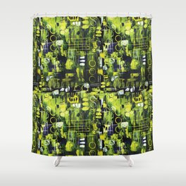 Northern Lights Abstract Painting Shower Curtain