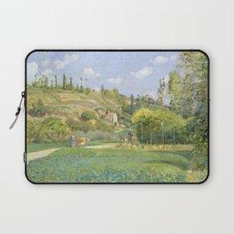 """Camille Pissarro """"A Cowherd at Valhermeil, Auvers-sur-Oise"""" Laptop Sleeve"""