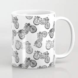 Motorcycle Black and White Coffee Mug