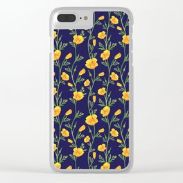 California Gold Rush (Poppies) Clear iPhone Case