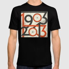 100 Years of The Tour de France Mens Fitted Tee LARGE Black