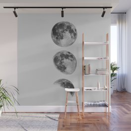 Moon Phase Wall Art Moon Home Decor Moon Phases Nursery Decor Poster Minimalist Print Gothic Boho Wall Mural