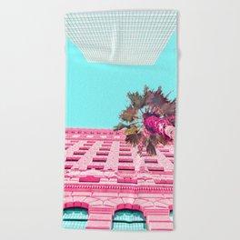 LA Palm Tree Look Up Beach Towel