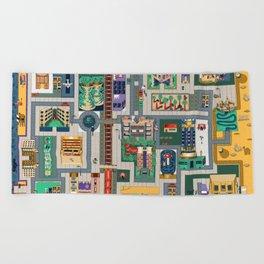 Map of life Beach Towel