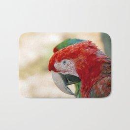 Green Winged Macaw Portrait Bath Mat