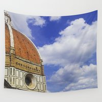 florence Wall Tapestries featuring Duomo's Cupola - Florence by FranArt