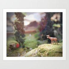 Temporary Happiness part 1 deer Art Print