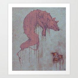 Carmine Chalk Art Print