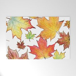Autumn Maple Leaves Welcome Mat