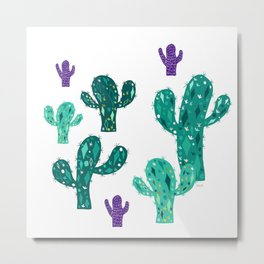 Cactus together Metal Print