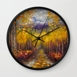 Uncompahgre National Forest Painting Wall Clock