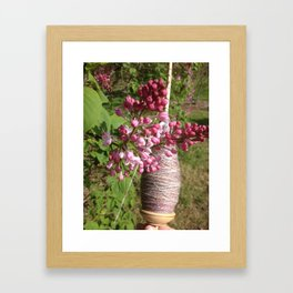 Plying and Lilac Framed Art Print