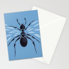 Weird Abstract Flying Ant Stationery Cards