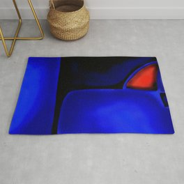 Abstraction in Lapis and Red Rug