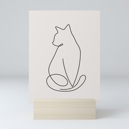 One Line Kitty Mini Art Print