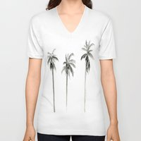 "palms V-neck T-shirts featuring ""Palms"" by  Tori Wise Watercolors"