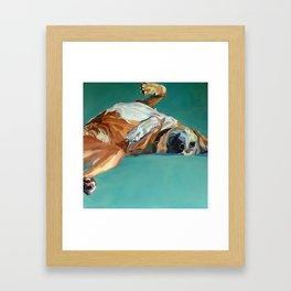 Johnny the Dog Rests Framed Art Print
