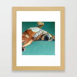 Johnny the Dog Rests Framed Art Print