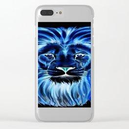 Leão em neon Clear iPhone Case