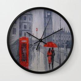 In London it was snowing Wall Clock