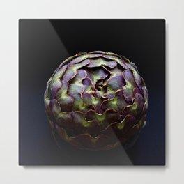Purple Artichoke Metal Print