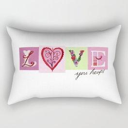 LOVE letters - LOVE you heaps Rectangular Pillow