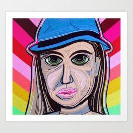 Dama 100% LANA Art Print