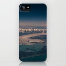 Aerial Glacier Three - Alaska iPhone Case