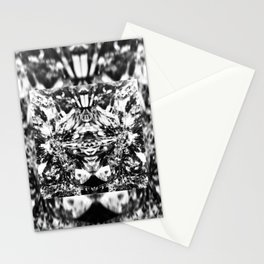 Mirrored Crystal Black & White Stationery Cards