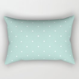 Turquoise Polka Rectangular Pillow