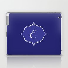 E Monogram Royal Blue Laptop & iPad Skin
