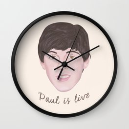 Paul is live Wall Clock