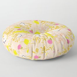 Energizing spring summer flowers Floor Pillow