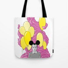 On a Pink Cloud Tote Bag