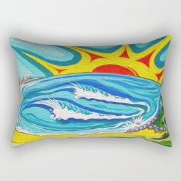 Sunny Surfers Paradise Rectangular Pillow