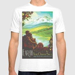 NASA Retro Space Travel Poster #2 - Earth T-shirt