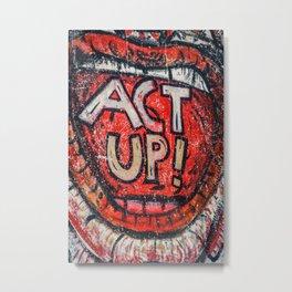 Act Up! Metal Print