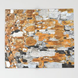 Italy: Sassi Texture - Matera  Throw Blanket