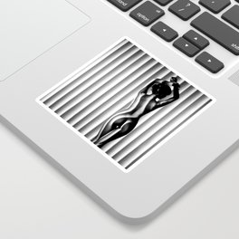 Sexy Black & White Nude Sticker