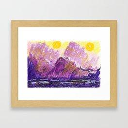 Golden Moons Framed Art Print