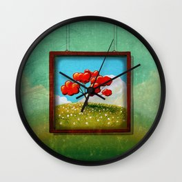 Through The Looking Glass - Hope Wall Clock