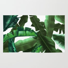 tropical banana leaves pattern 2 Rug