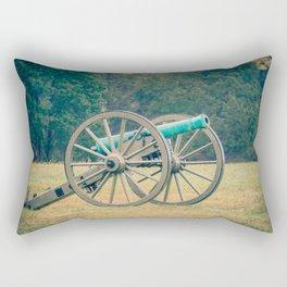 Manassas Artillery in Autumn Field Battle of Bull Run Manassas National Battlefield Park Virginia Rectangular Pillow