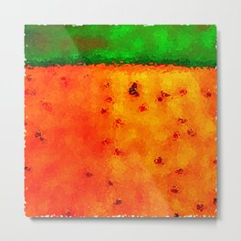 Orange Rain Field Metal Print
