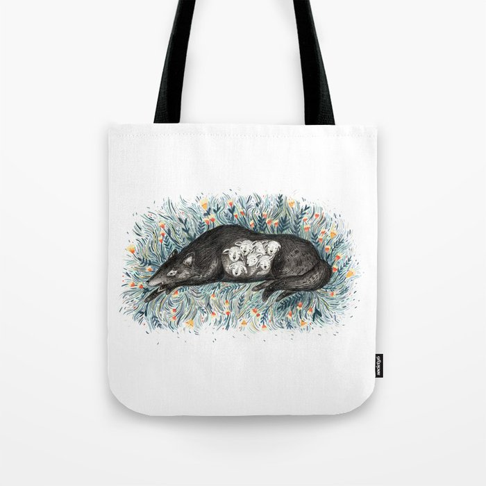 Wolf & The Seven Kids Tote Bag