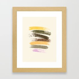 Trees and marshmallow Framed Art Print