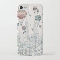 computer iPhone & iPod Cases featuring Voyages Over New York by David Fleck