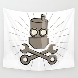 Jolly Robot 01 Wall Tapestry
