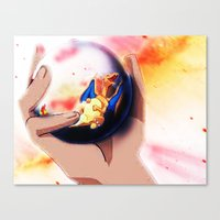 charizard Canvas Prints featuring Charizard by ALynnArts