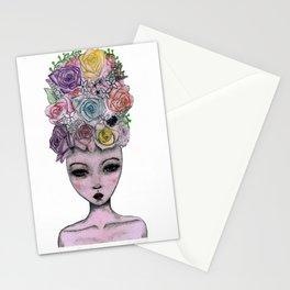 garden girl Stationery Cards